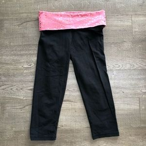 *2/$20* Victoria's Secret PINK Logo Crop Leggings
